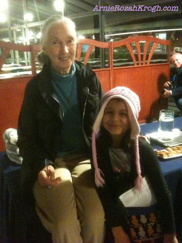 with jane goodall  one of her