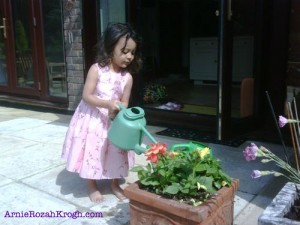 ArnieRozahKrogh.com- Learning to be a Gardening Goddess Starts Young